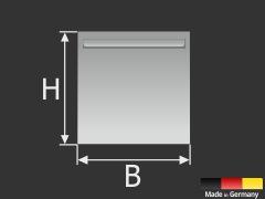 Bildaufhänger selbstklebend bis 6 kg | Spiegelhalter | Ösenblech 100x100 mm