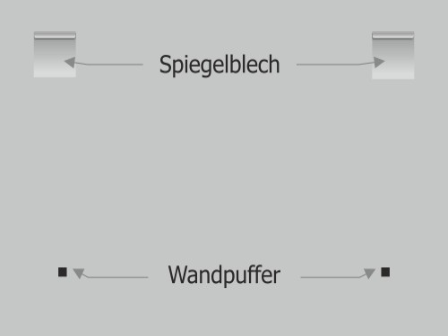 Montage: Schaumstoff Abstandhalter Wandpuffer klebend