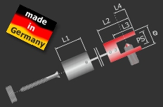 Plattenhalter Schildhalter Messing poliert Ø 14 mm PS: 1-6 mm | Chrom