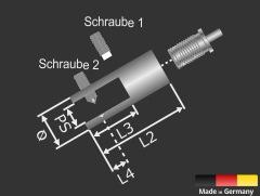 Lieferumfang: Plattenhalter Ø18mm L:45mm PS:1-10mm Seil Ø1,5mm Automatik | Edelstahl