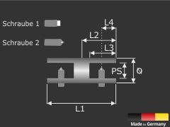 Plattenverbinder Schilder Glasverbinder Glasklemme Edelstahl Ø18 mm PS: 1-10 mm