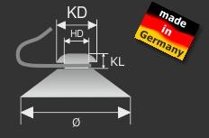 Saugnäpfe Ø 40 mm mit Haken | Saugnapf | Metallhaken | Saughaken