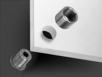 Schilderhalter Messing poliert Ø 18mm WA: 8 mm PS: 9-14 mm | Schildermontage