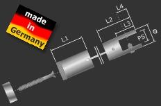 Deckenhalterung Set Edelstahl V2A Seilbefestigung, Ø 11 mm PS: 3-6 mm