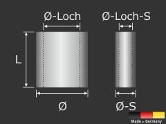 Klemmkautsche Seilklemme Alu-Presshülse Pressklemme Seil-Ø 1,5 - 2 mm