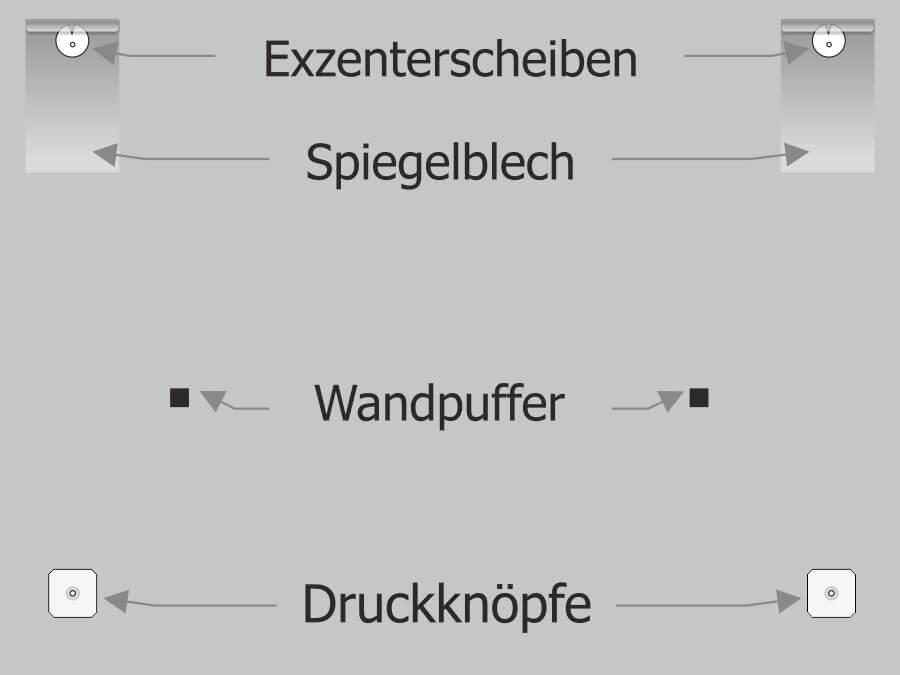Montage: Spiegelbefestigung Anleitung