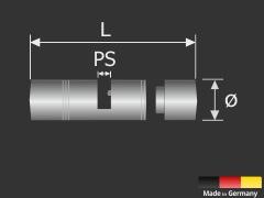 Tischaufsteller für Plexi-Glas-Platten Edelstahl