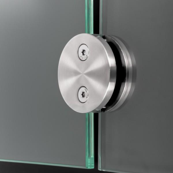 Glashalter Edelstahl rund Ø60mm beidseitig front Wandmontage 8-12,76mm