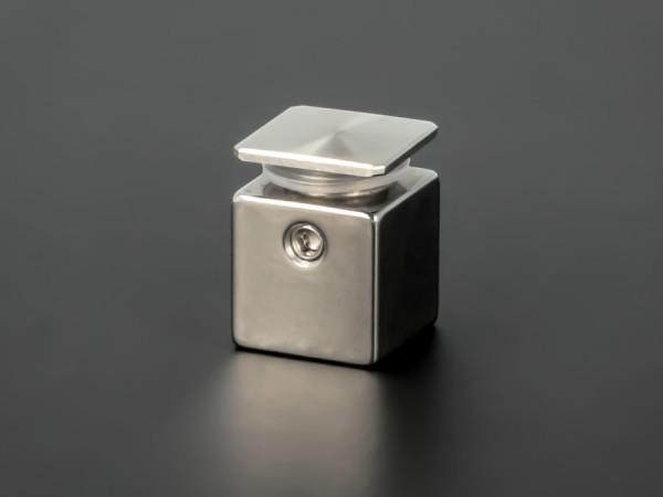 Wandabstandhalter 4-eckig Edelstahl V2A 15x15mm WA: 15 mm PS: 2-5 mm