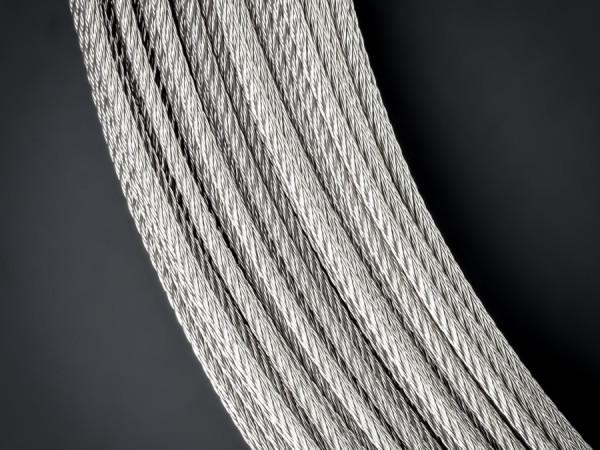 Stahlseil V4A Stärke: 2 mm | 7x7 halbweich | Befestigung | Länge 1 m