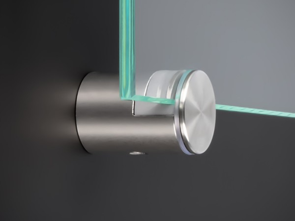 Spiegelhalter Edelstahl Ø: 20 mm WA: 17-21 mm PS: 4, 6, 8 mm | Halter
