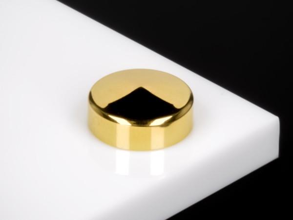 Schraubenabdeckkappe Ø 18 mm Edelstahl V2A inkl. Gewindehülse   Gold