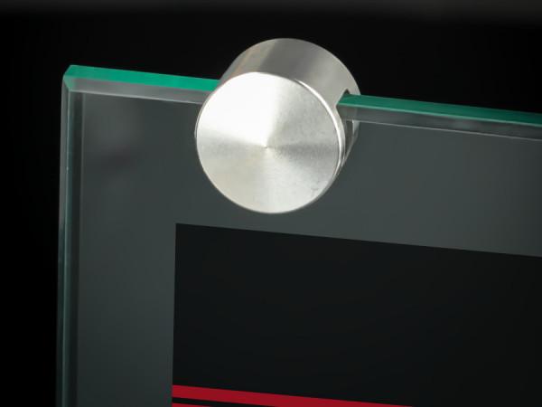 Tischaufsteller Klemme Edelstahl Bilder Schilder Ø 18 mm PS: 1-6 mm
