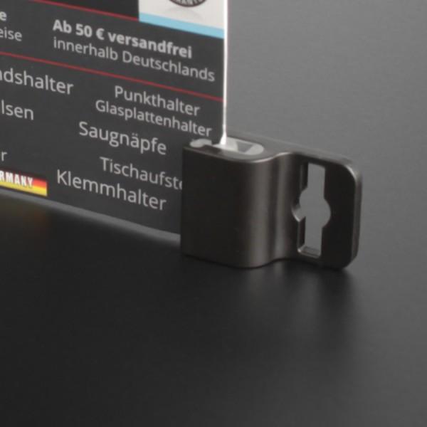 Kartenhalter Ausweishalter für Saugnapf oder Band 17x25 mm Gripper