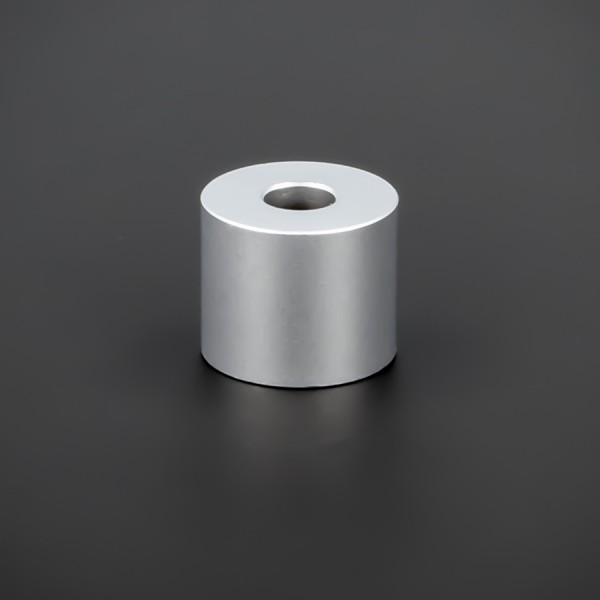 Distanzstück M6 Messing matt Ø 18 mm WA: 15 mm L-Ø: 6,5 mm | Silber