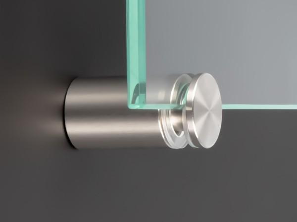 Spiegelhalter Edelstahl V2A Ø:15mm WA:20mm PS:1-10,76mm | Glasklemme