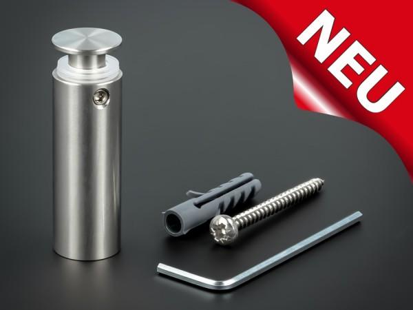 Abstandshalter lang Edelstahl V2A Ø 15mm WA: 40mm PS: 1-16mm | flach