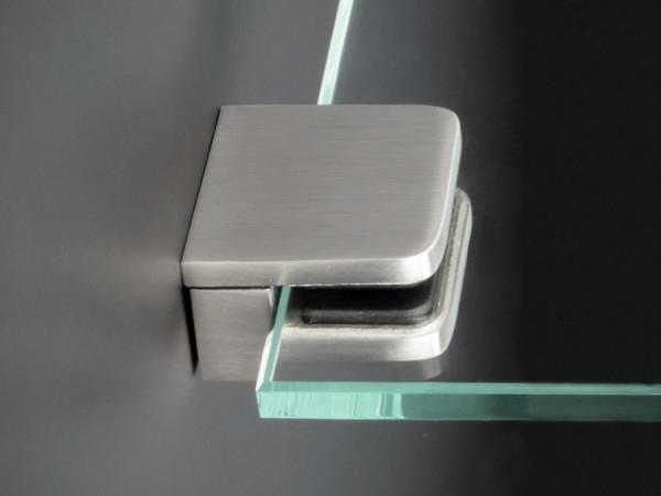 Glasscheibenhalter Wandregalhalter V2A 30x30mm PS:4-8 mm | Wandmontage