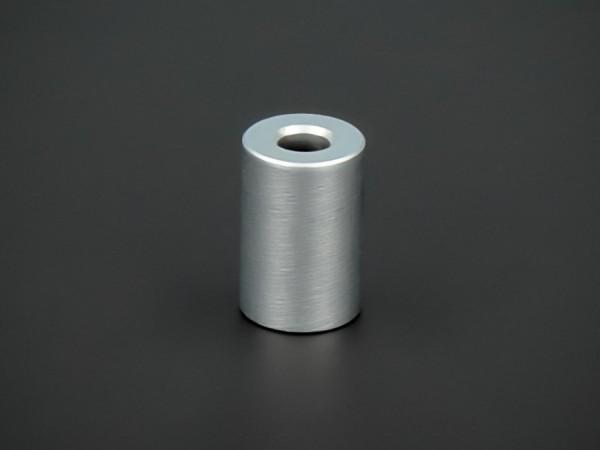 Distanz-Hülse Edelstahl matt verchro. Ø10mm WA:15mm L-Ø:4,1mm | Silber