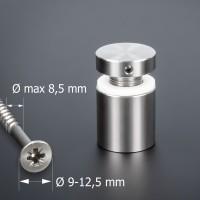 Schraubbare Wandbefestigung für große Schrauben Ø 25x25 mm PS:1-18 mm