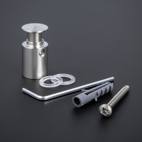 Edelstahl Abstandhalter angesch. Kragen Ø 15mm WA: 18,5mm PS: 1,5-12mm