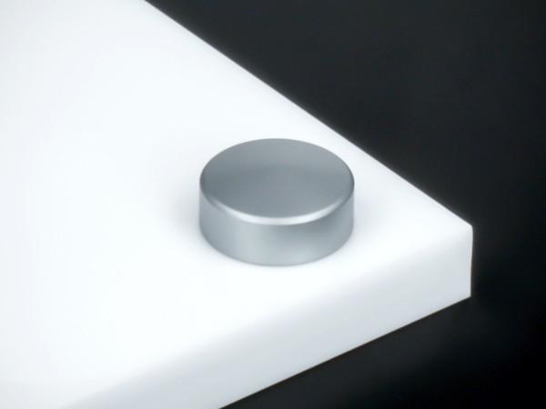 Schraubenkappe Edelstahl inkl. Gewindehülse angeschrägt Ø15mm   Silber