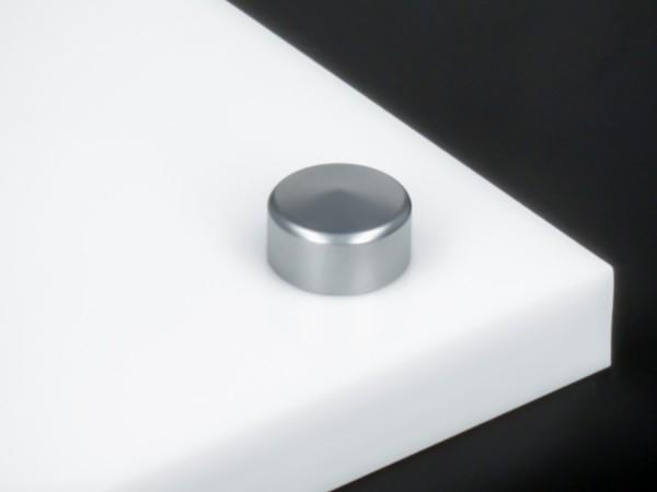 Zierkappe Edelstahl matt inkl. Gewindehülse angeschrägt Ø10mm | Silber