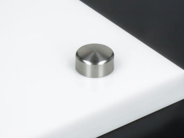Schraubenkappe Edelstahl inkl. Gewindehülse angeschrägt Ø 15 mm   V2A