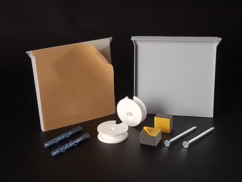 Spiegelbefestigung-Set Wandspiegelhalter bis 0,8qm o.12kg | 100x100mm