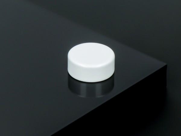 Schraubenabdeckung Edelstahl inkl. Gewindehülse flach Ø15 mm | Weiß