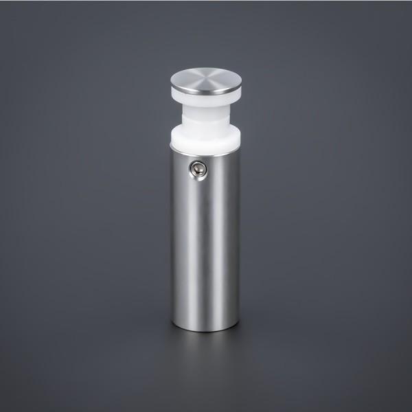 Glashalter lang Edelstahl V2A Ø15x40 mm PS: 8-14 mm o. 2x 4-6 mm