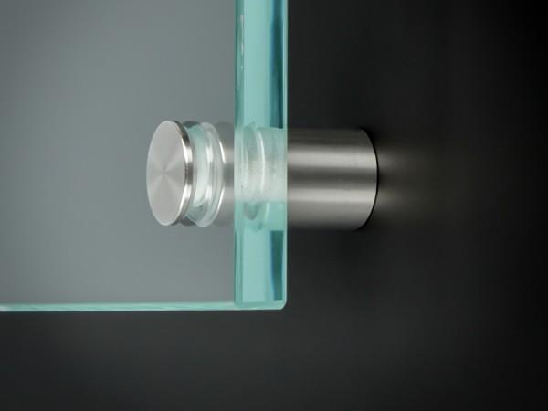 Werbeschildbefestigung Edelstahl V2A roh Ø 15 mm WA:18,5 mm PS:1-12 mm