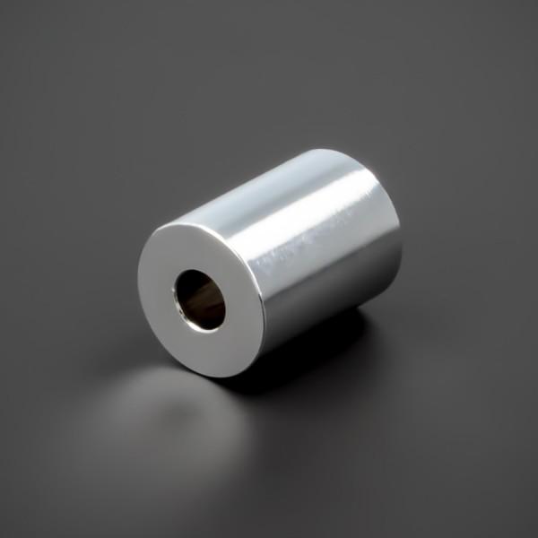 Distanzhalter M5 Messing verchromt glänzend Ø15x20mm L-Ø:5,2mm Chrom