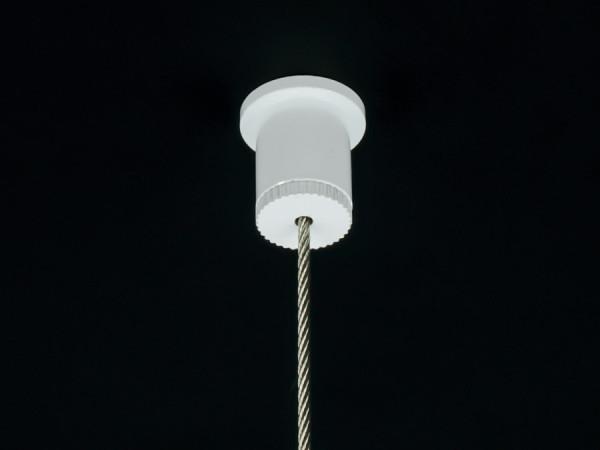 Seil Deckenbefestigung Seilabhänger für Kugelseil 1,5-2 mm | weiß