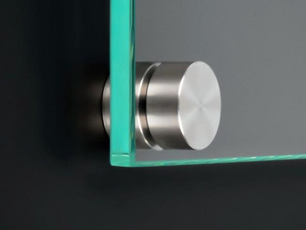 Schildbefestigung Edelstahl V2A Ø 18x5mm Schildhalter PS: variabel