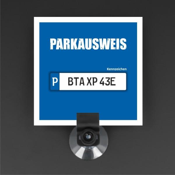 Parkausweishalter Parkkartenhalter Saugnapf+Rändelmutter Auto-Scheibe