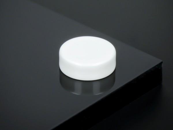 Schraubenkopfabdeckung Edelstahl inkl. Gewindehülse flach Ø18mm | Weiß