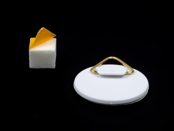 Bild-Haken-Aufhänger Ø 40 mm selbstklebend mit Wandpuffer Schaumstoff
