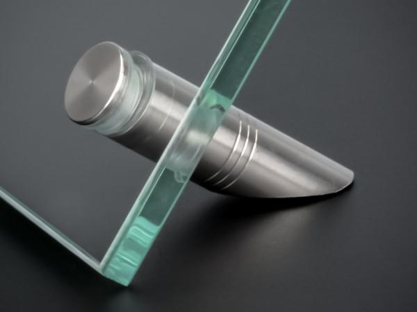 Tisch-Schildhalter für Platten mit Bohrung Edelstahl Ø 12 mm PS: 3-9