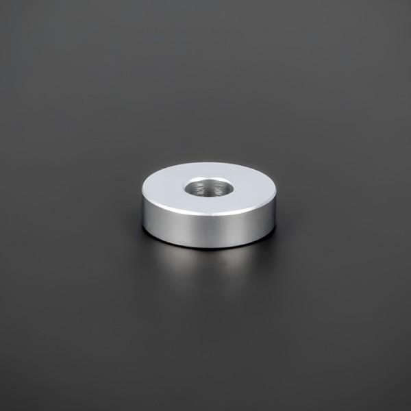 Distanzröhrchen M6 Messing matt Ø 18mm WA: 5mm L-Ø: 6,5mm | Silber