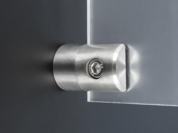 Lochblechhalter Edelstahl V2A 40x 25 mm PS: 1,5-4 mm + Gummi | Wandmontage