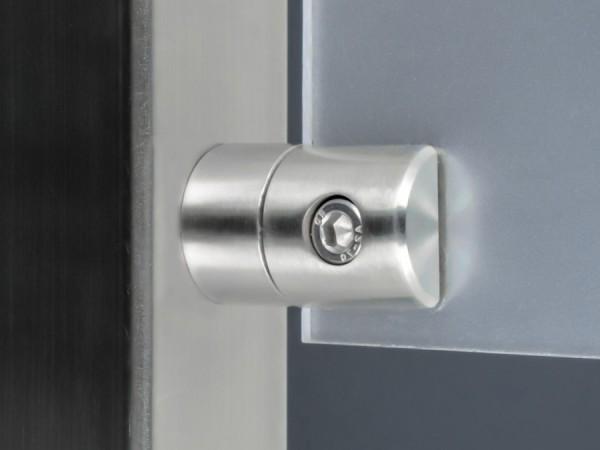 Lochblechhalter Edelstahl V2A 40 x 25 mm PS: 1,5-4 mm + Gummi | flach