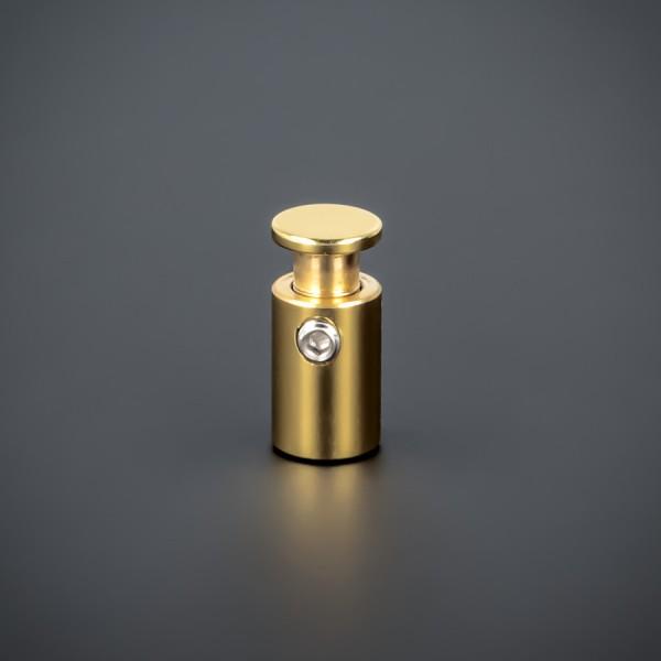 Abstandshalter Messing Lack klar Ø10 mm WA:15 mm PS: 2-10 mm | Gold