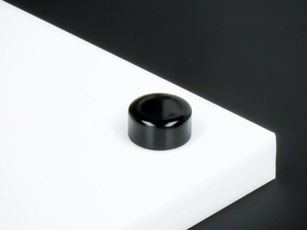 Zierkappe für Schrauben Edelstahl+Gewindehülse flach Ø10mm | Schwarz