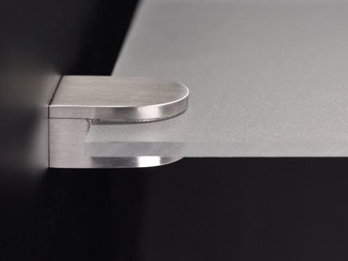 Glashalter | Ablagenhalter Edelstahl 36 x 29 mm PS: 4-8 mm Wandmontage