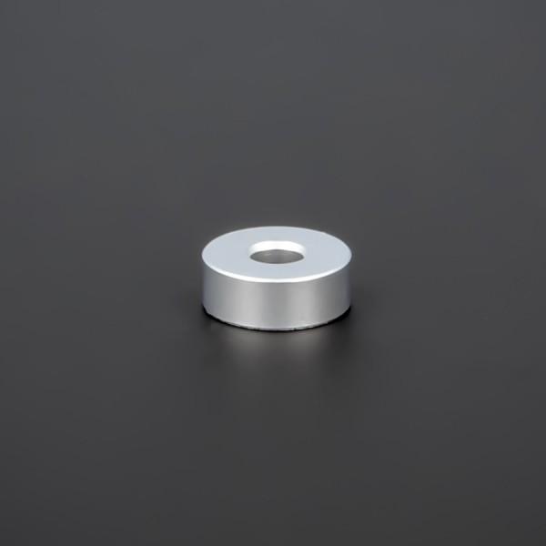 Distanzhülse M5 Messing matt verchromt Ø15x5 mm L-Ø:5,2 mm | Silber