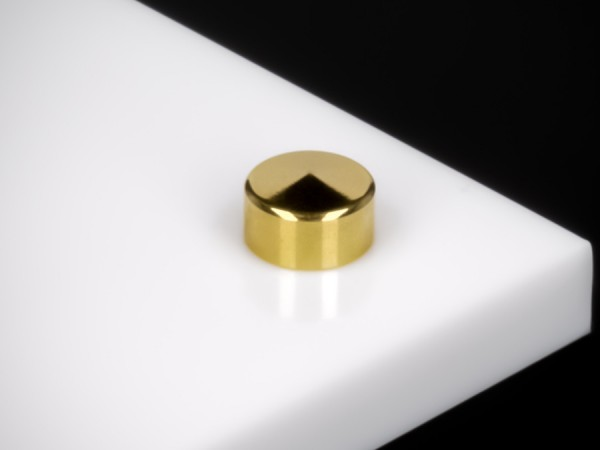 schraubenabdeckkappe Ø10mm Edelstahl inkl. Gewindehülse | Gold