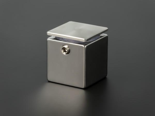 Wandabstandshalter viereckig Edelstahl V2A 25x25mm WA: 25mm PS: 1-13mm