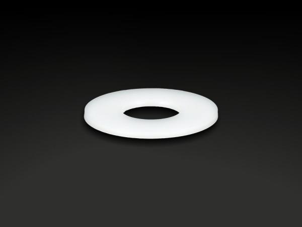 Unterlegscheibe POM Kunststoff Ø24mm I-Ø:10,6mm Bundhöhe (BH):1,25mm