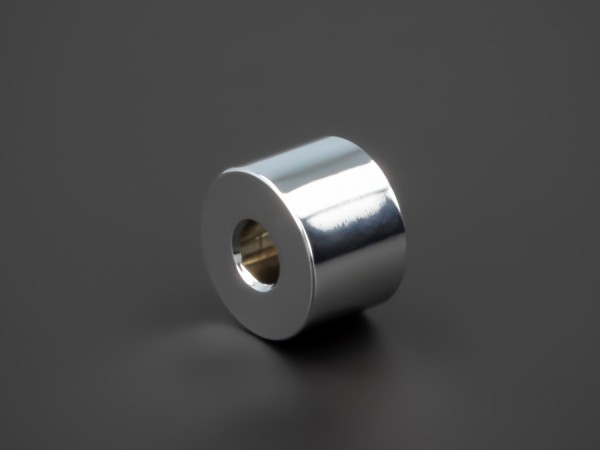 Distanzhalter Edelstahl verchromt glänzend Ø15x10mm L-Ø:5,2mm | Chrom